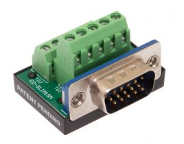 HD15 VGA Male Terminal Block Panel Mount Connector