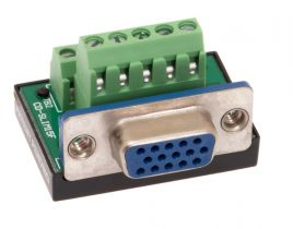 HD15 VGA Female Terminal Block Panel Mount Connector