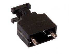 MaxBlox DB9 & HD15 VGA Terminal Blocks Hood - Black Plastic