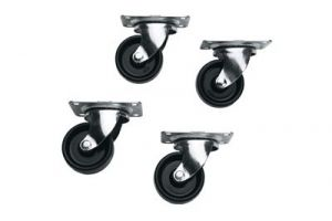 Commercial Grade Casters for Slim 5 and ERK Racks - Set of 4 (Non-Locking)