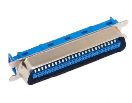 50 Pin Male Crimp Centronics Connector - Flat Ribbon Cable (IDC Type)