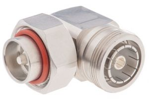 7/16 Din Male to 7/16 Din Female Right-Angle Adapter
