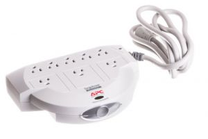 8 Outlet Surge Protector with Phone Line Protection - 6 FT Cord