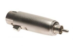 RCA Male to XLR 3 Pin Female Adapter