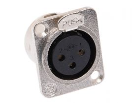 XLR 3 Pin Female Chassis Mount Connector