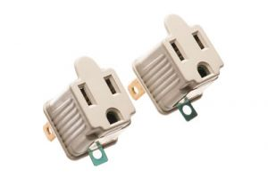 AC Male to Female Power Adapter - 2 Pack