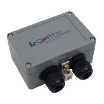 L-com Compact Weatherproof 10/100/1000 Base-T CAT6 Hi-Power Lightning Protector - RJ45 Jacks