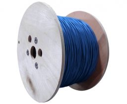 Cat8 Shielded Solid Bulk PVC Ethernet Cable - Blue - 500 Feet