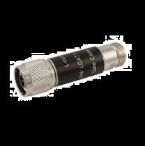 L-com 2W/6dB RF Fixed Attenuator - N Male to N Female - Brass Nickel - 3 GHz