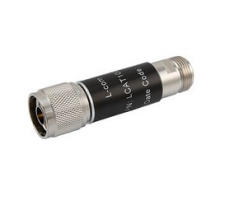 L-com 2W/2dB RF Fixed Attenuator - N Male to N Female - Brass Nickel - 6 GHz