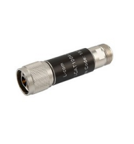 L-com 2W/1dB RF Fixed Attenuator - N Male to N Female - Brass Nickel - 6 GHz