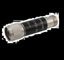 L-com 2W/3dB RF Fixed Attenuator - N Male to N Female - Brass Nickel - 3 GHz