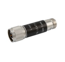 L-com 2W/4dB RF Fixed Attenuator - N Male to N Female - Brass Nickel - 6 GHz