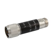 L-com 2W/9dB RF Fixed Attenuator - N Male to N Female - Brass Nickel - 6 GHz