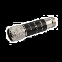 L-com 2W/5dB RF Fixed Attenuator - N Male to N Female - Brass Nickel - 3 GHz