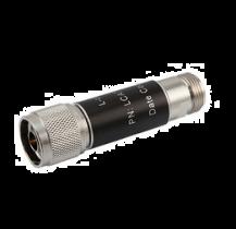 L-com 2W/10dB RF Fixed Attenuator - N Male to N Female - Brass Nickel - 3 GHz