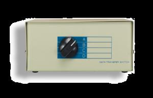 4-Way Manual Push Button DB9 Serial Switch Box