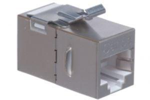 Cat5e RJ45 Shielded Inline Keystone Coupler
