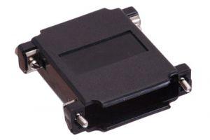 DB25 & HD44 Dual Sided Hood - Black Plastic
