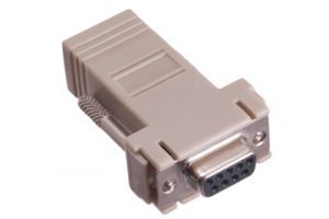 DB9 Female to RJ12 Female Modular Adapter Kit - 6 Conductor