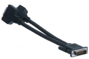 DMS-59 Male to Dual DVI-I Female Y-Split Cable