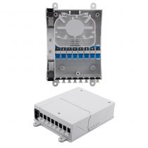 Splitter Distribution Box - 8 Ports with SC/UPC Adapters - 2 Input/Output Ports - No Pigtails