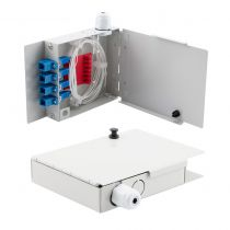 4 Port FTTH Terminal Box - Metal with SC/UPC Pigtails and SC/UPC Adapters