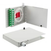 8 Port FTTH Terminal Box - Metal with SC/APC Pigtails and SC/APC Adapters