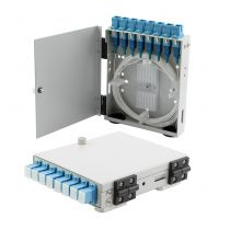 8 Port FTTH Terminal Box - Metal with SC/UPC Pigtails and SC/UPC Adapters