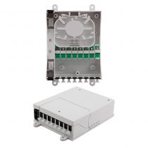 Splitter Distribution Box - 8 Ports with SC/APC Adapters - 2 Input/Output Ports - No Pigtails