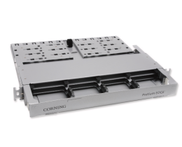 Corning EDGE Fiber Optic Fixed Rack Enclosure - HD-1 Rack Unit - 6 Modules