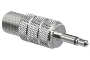3.5mm Mono Male to F-Type Female Adapter