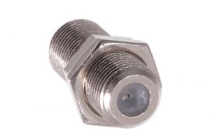 F-Type Female to F-Type Female Adapter for D Hole Mounting