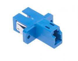 L-com Simplex LC/SC Multimode Fiber Optic Adapter - Plastic Body