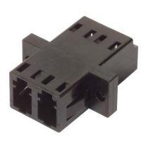 L-com Fiber Coupler LC/LC - Duplex Ceramic Sleeve - Low Profile - w/Flange