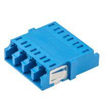 Fiber Optic LC Quad Adapter - Single mode - No Flange - Blue