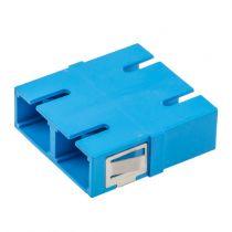 Fiber Optic SC Duplex Coupler - Single mode - No Flange - Blue