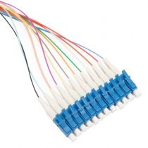12 Fiber Ribbon, 9μm SM LC/UPC 3 Meter Pigtail Fanout Kit