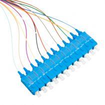 12 Fiber Ribbon, 9μm SM SC/UPC 3 Meter Pigtail Fanout Kit