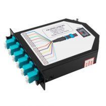 1 MTP Male (12 fiber) to 6 Duplex LC Connectors LGX Fan-out Cassette, OM3 Multimode