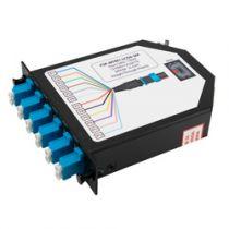 1 MTP Male (12 fiber) to 6 Duplex LC Connectors LGX Fan-out Cassette, Single Mode OS2