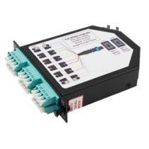 2 MTP Male (24 fiber) to 6 Quad LC Connectors LGX Fan-out Cassette, OM3 Multimode