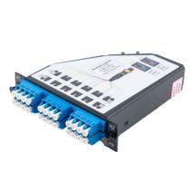2 MTP Male (24 fiber) to 6 Quad LC Connectors LGX Fan-out Cassette, Single Mode OS2