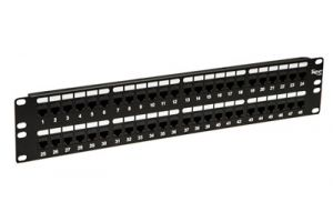 ICC Cat6 Feed-Thru Patch Panel - 48 Port
