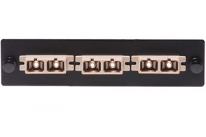 ICC Fiber Adapter Panel - SC - 3-Port Duplex - Metal