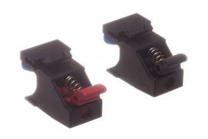 ICC Speaker Spring Clip Keystone Jacks - 1 Pair - Black