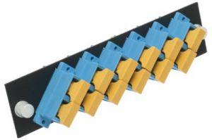 ICC Fiber Adapter Panel - SC - 6-Port Duplex - Ceramic