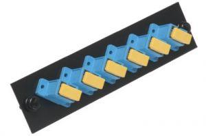 ICC Fiber Adapter Panel - SC - 6-Port Simplex - Ceramic