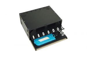 ICC Fiber Optic Rack Mount Enclosure - 96 Splice - 4 Panel - 4 RU