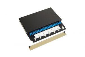 ICC Pre-Loaded Fiber Optic Rack Mount Enclosure - SC - Simplex - 24 Port - 1 RU